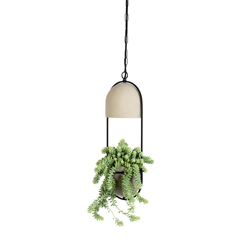 Landelijke ronde hanglamp beton - Fauna A