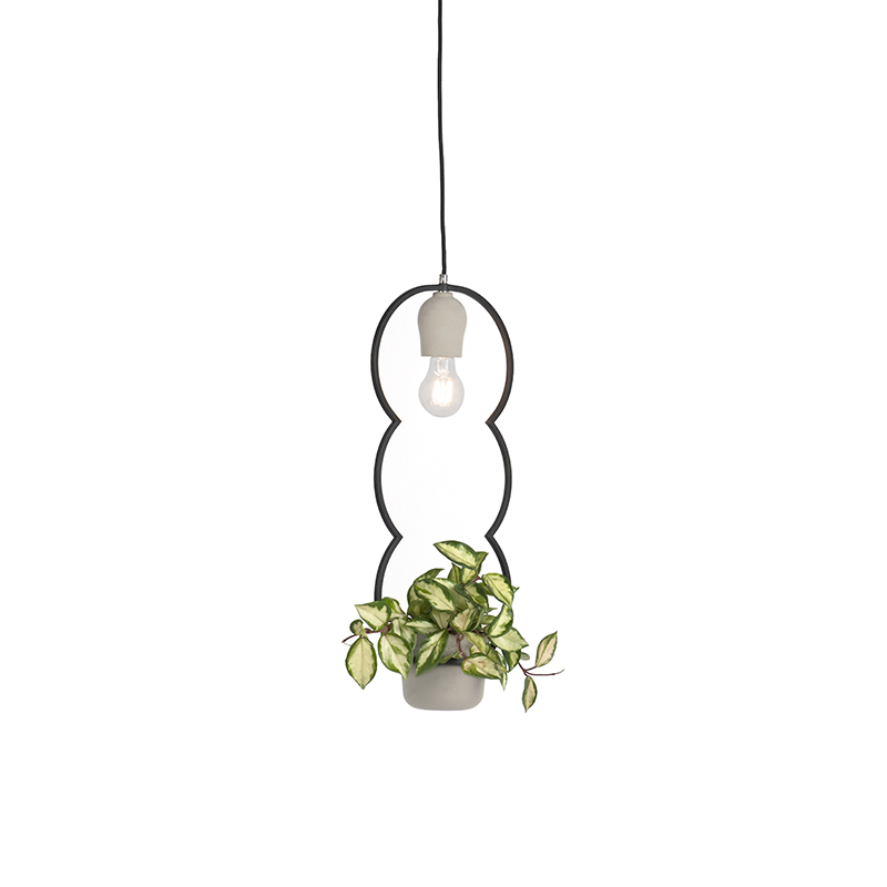 Rustykalna lampa wisząca beton - Fauna B