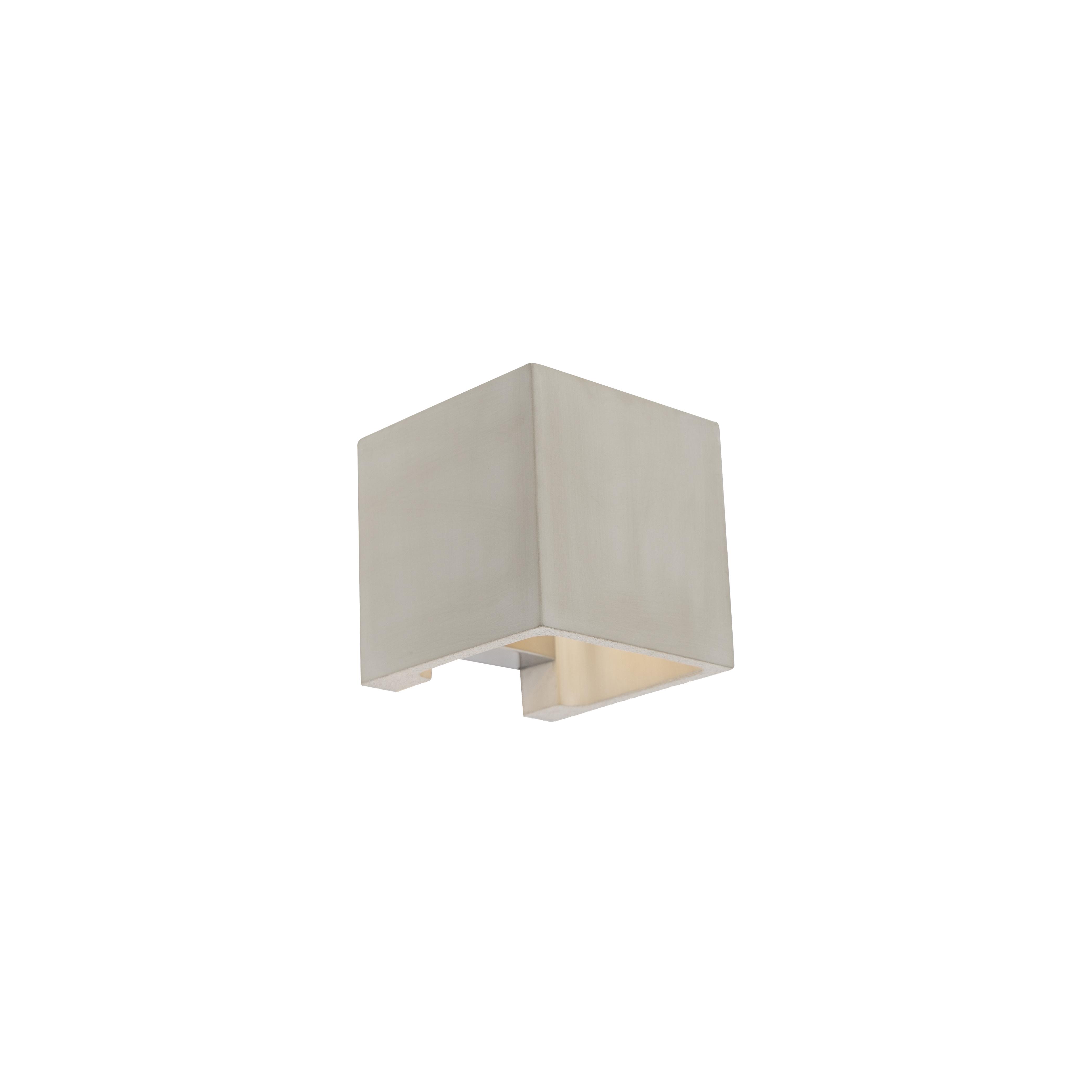 Landelijke vierkante wandlamp beton - Alban
