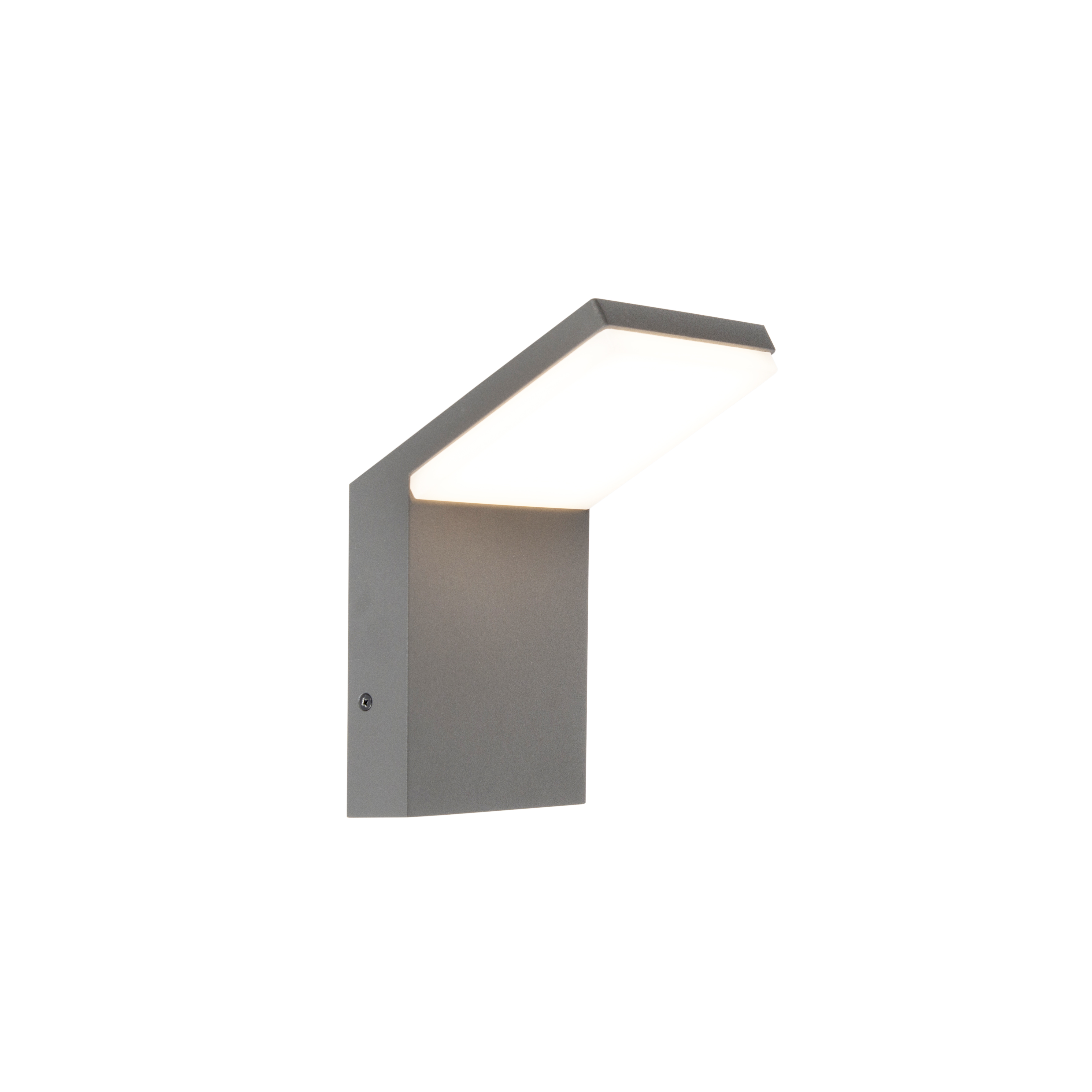 Moderne wand buitenlamp donker grijs incl. LED - Mapi