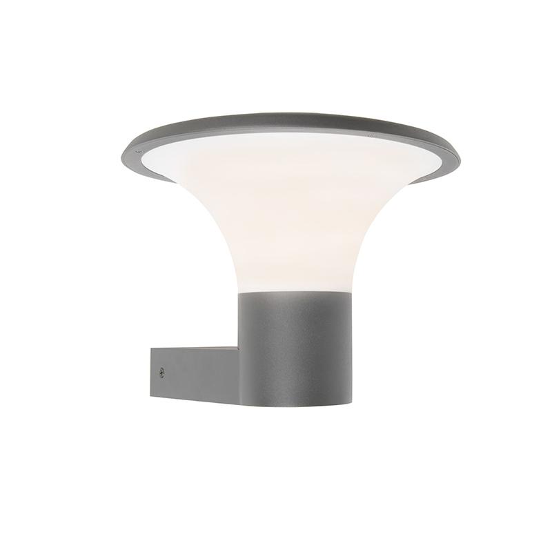 Moderne buitenlamp wand donker grijs incl. LED - Papi