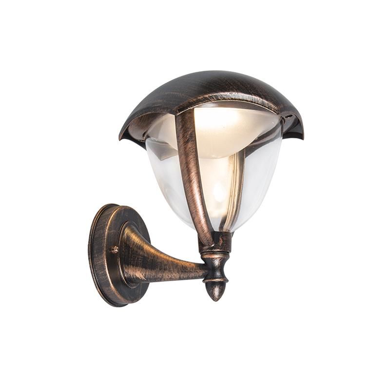 Moderne buitenlamp up antiek roest incl. LED - Cappe