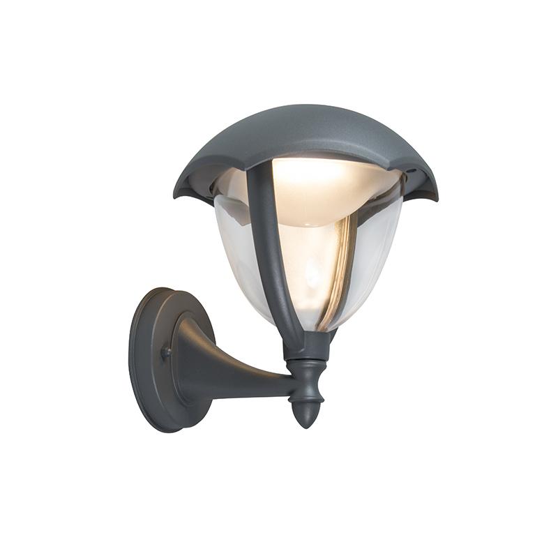 Moderne buitenlamp wand up aluminium incl. LED - Cappe