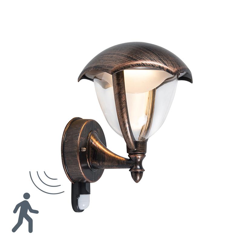 Moderne wandlamp antiek roest LED met bewegingssensor - Cappe