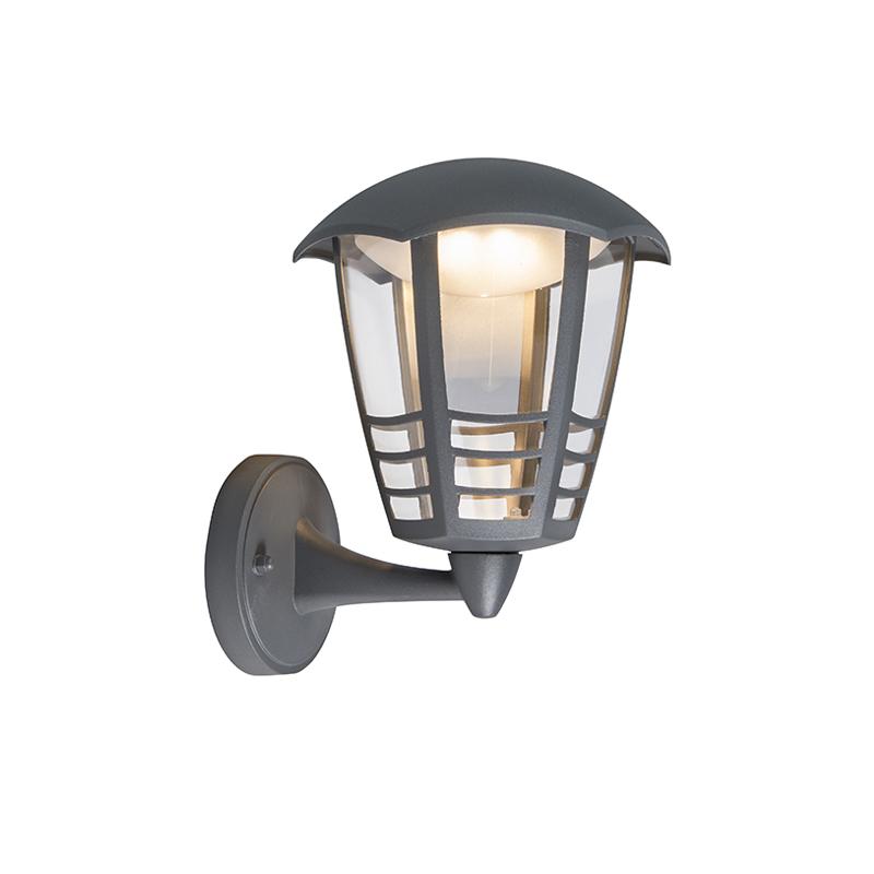 Moderne buitenlamp wand donkergrijs incl. LED - Mara