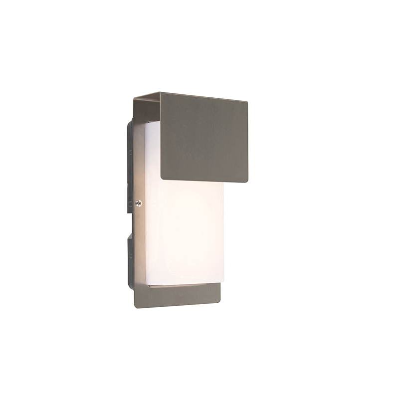 Design buitenwandlamp staal incl. LED IP44 - Bink 1