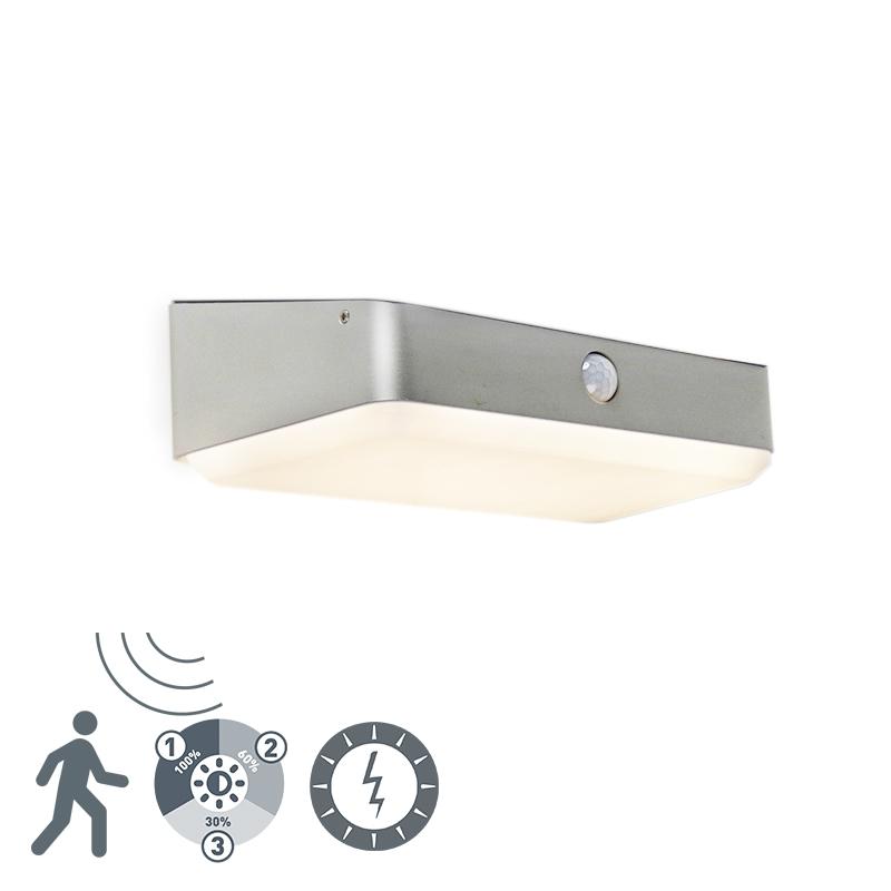 Zewnętrzna lampa ścienna z diodą LED na kolektorze słonecznym z czujnikiem ruchu - Blox