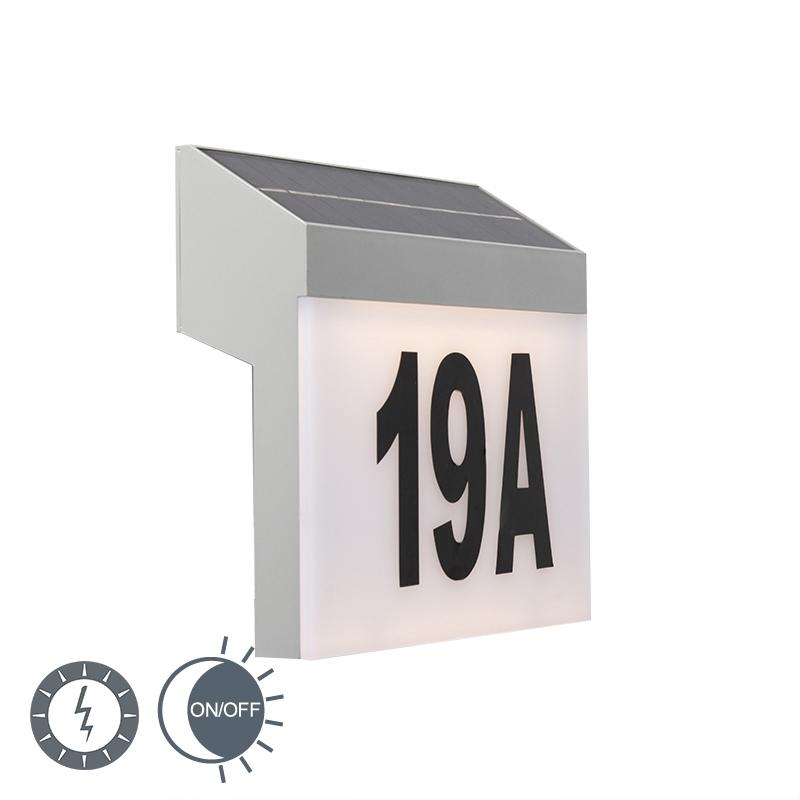 Buitenlamp Flush LED op zonne-energie met PIR IP44