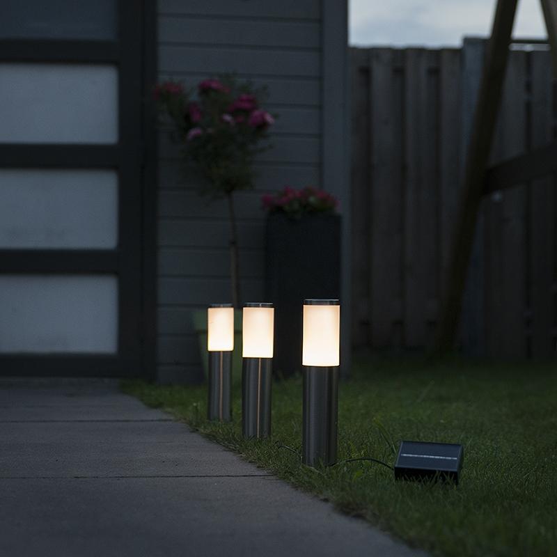 Prikspot Rox LED op zonne-energie set van 3 IP44