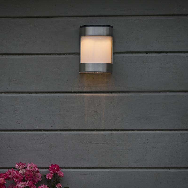 Buitenlamp Boston Led Op Zonne-energie Aluminium Ip44