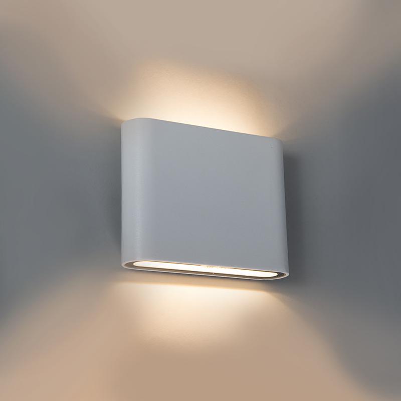 Moderne buitenwandlamp wit 11.5cm incl. 5W LED - Batt