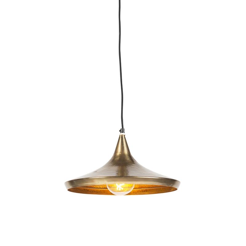 Vintage Ronde Hanglamp Goud - Duke A