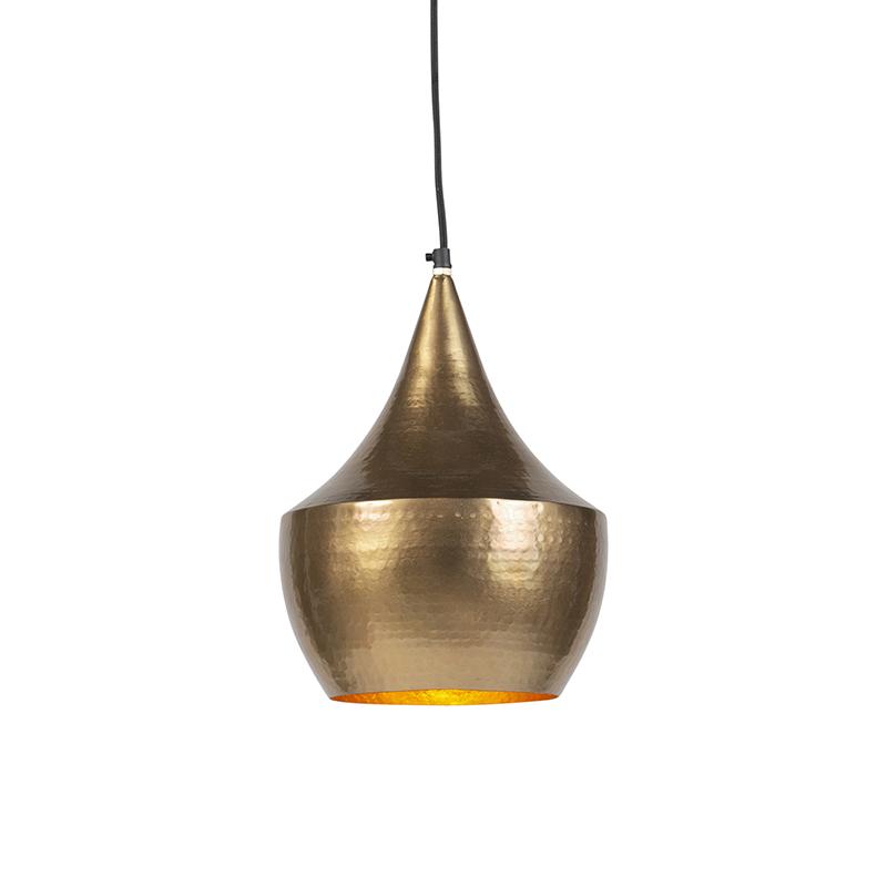 Vintage Ronde Hanglamp Goud - Duke B