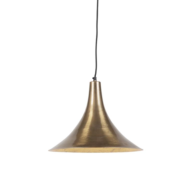 Vintage ronde hanglamp goud - Duke D