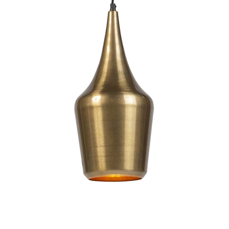 Vintage okrągła lampa wisząca złota - Duke E
