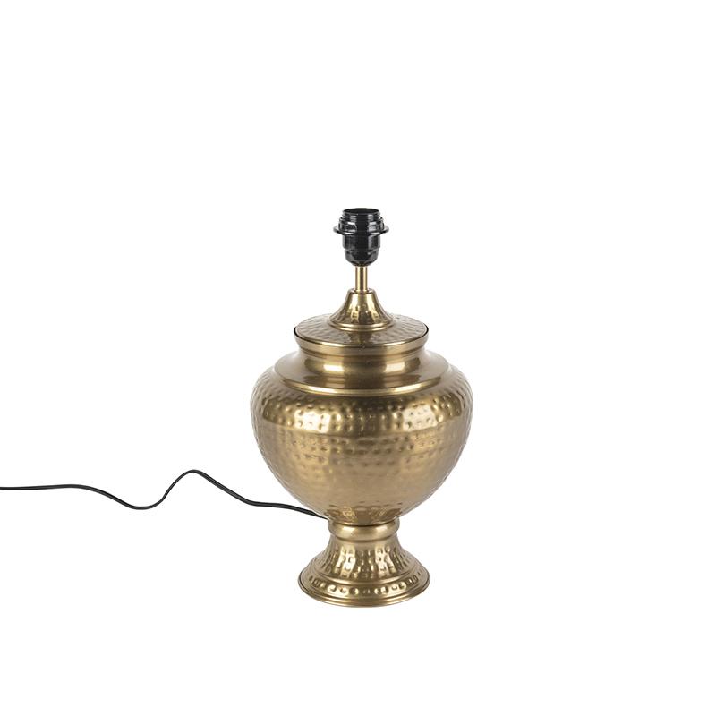 Vintage tafellamp goud zonder kap - Hazard A