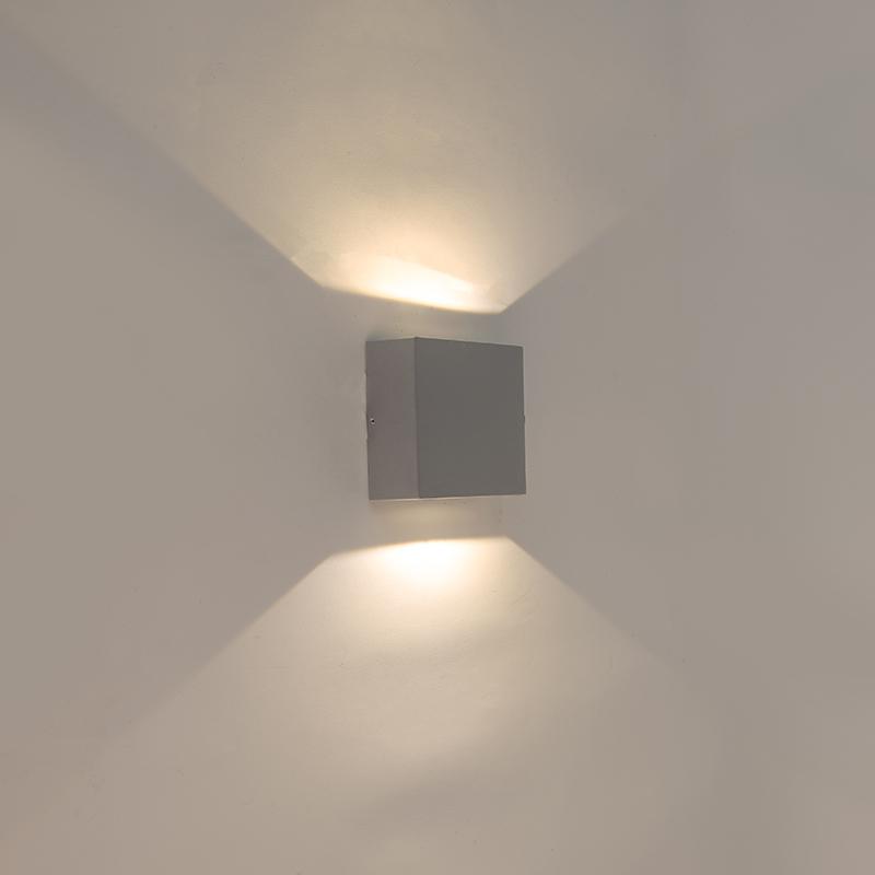 Kinkiet szary IP54 z LED - Squad