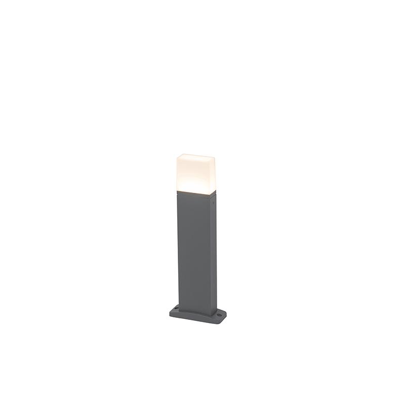 Moderne Buitenlamp Donker Grijs 45cm Incl. Led - Malia
