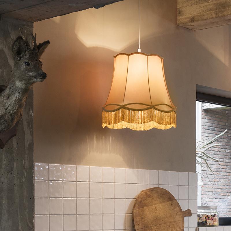 Retro lampa wisząca złota 45cm - Granny