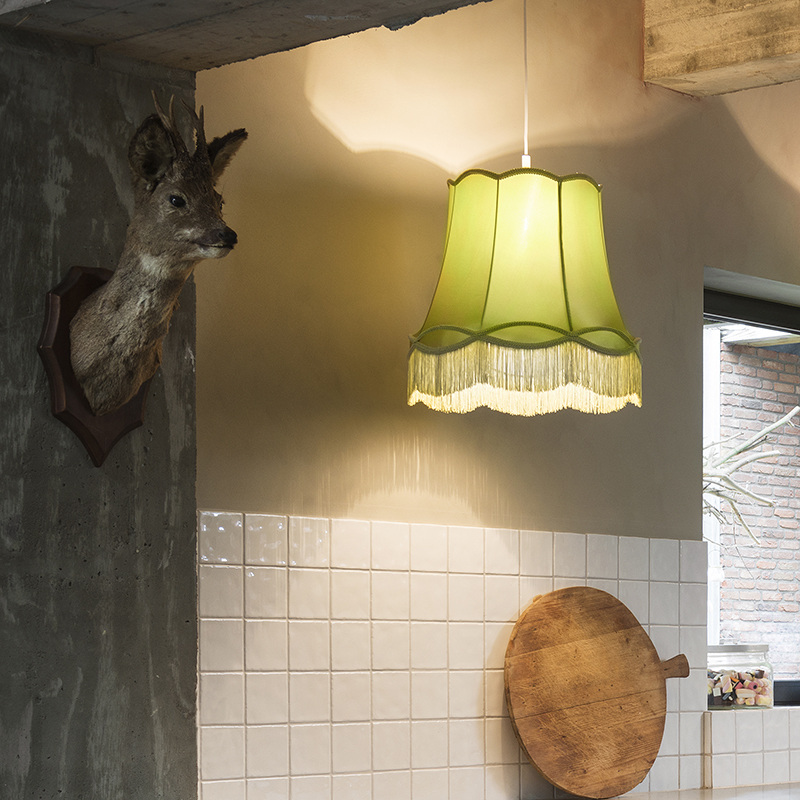 Retro hanglamp groen 45 cm - Granny
