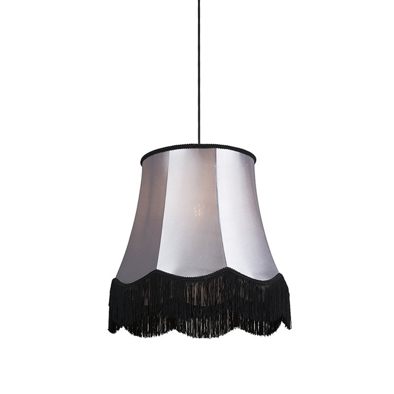 Hanglamp Granny B 45cm zwart met grijs