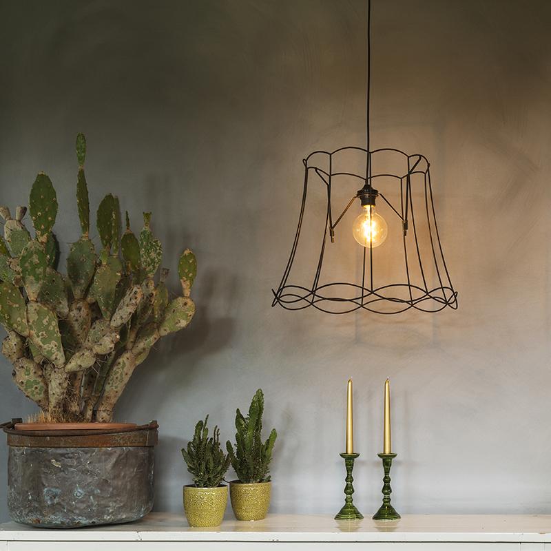 Retro hanglamp zwart 45 cm - Granny Frame