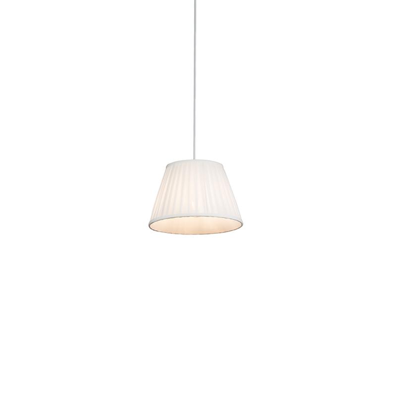 Lampa wisząca retro kremowa 25cm - Plisse