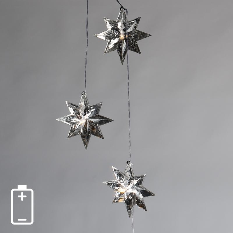 Światełka bożonarodzeniowe Sterren 3 LED barwa ciepło biała