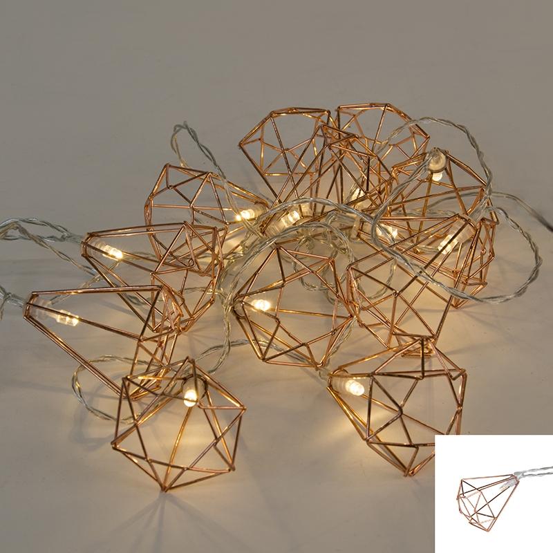Światełka bożonarodzeniowe Diamant 12 ciepło biała LED 2,2 m