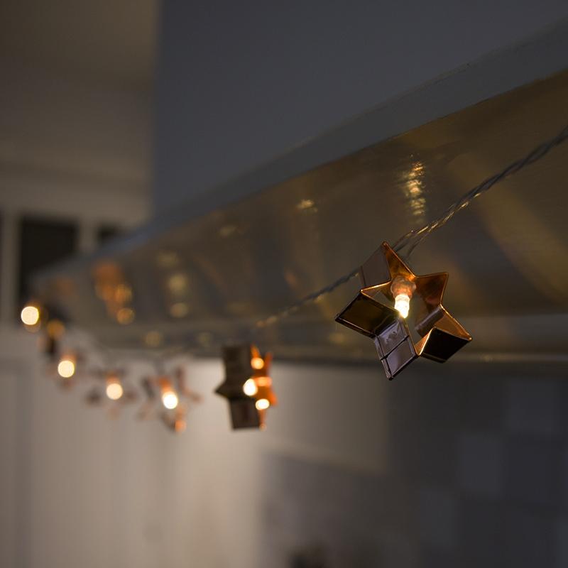 Kerstverlichting lichtsnoer 20 warm wit LED 2,8 meter