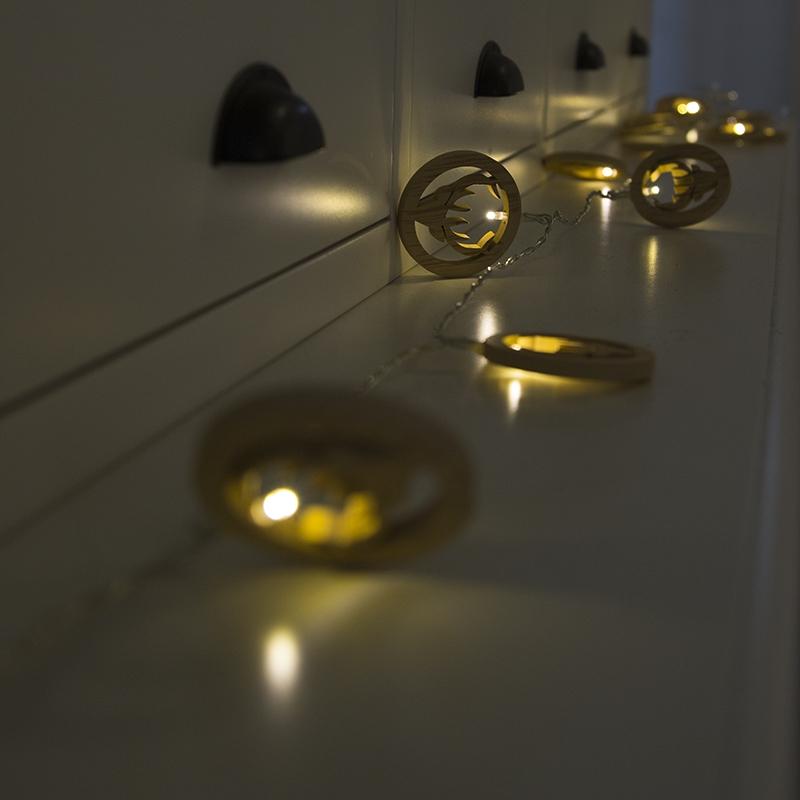 Kerstverlichting lichtsnoer Hert 20 warm wit LED 3,8 meter