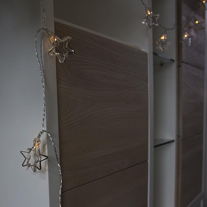 Kerstverlichting lichtsnoer Ster 20 warm wit LED 3,8 meter