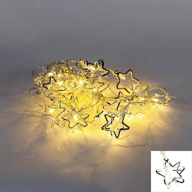 Oświetlenie świąteczne łańcuch świetlny Ster 20 LED barwa ciepło biała 3,8 m
