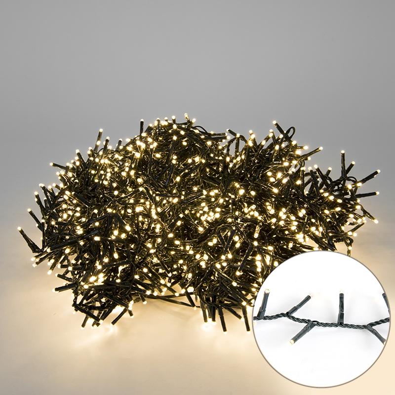 Feestverlichting buiten lichtsnoer knopjes 1500 warm wit LED 34m