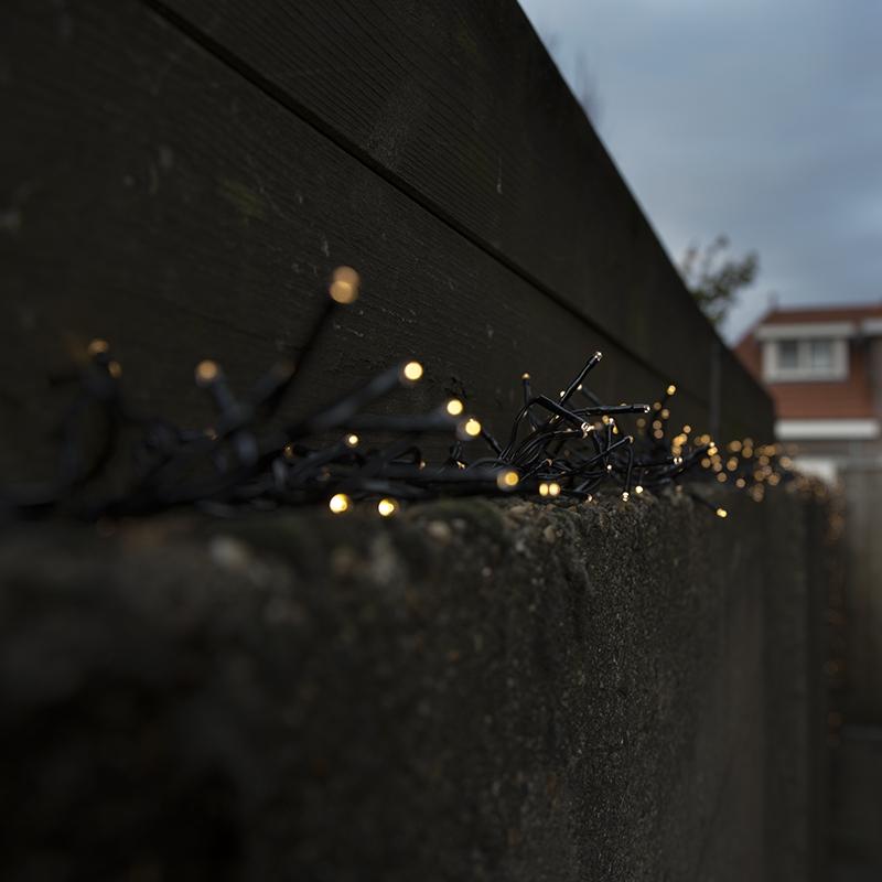 Clusterverlichting buiten lichtsnoer 786 warm wit LED 6 meter