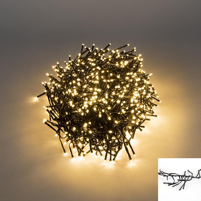 Clusterverlichting buiten lichtsnoer 1128 warm wit LED 10 meter