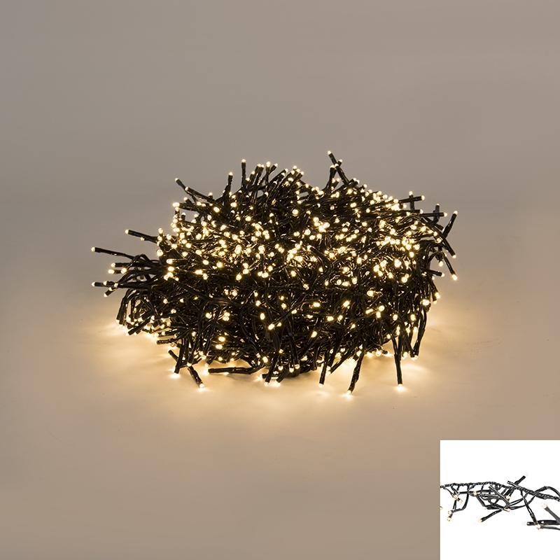 Feestverlichting buiten lichtsnoer 1512 warm wit LED 13,5m