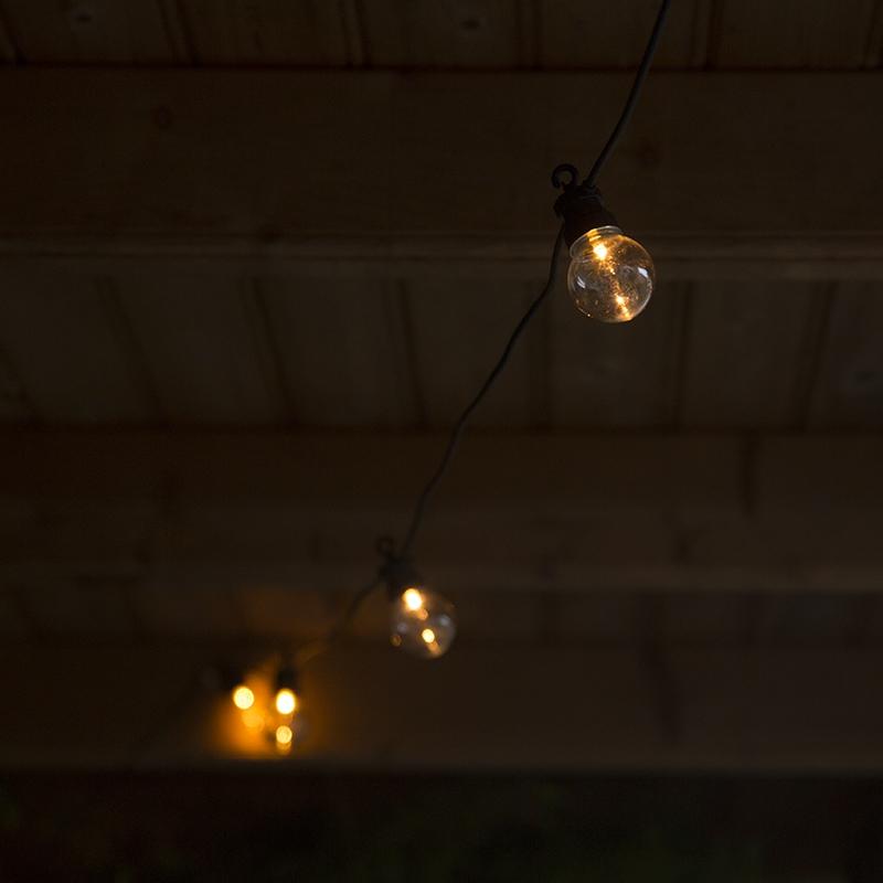 Feestverlichting buiten lichtsnoer Globe 20 warm wit LED 9,5m