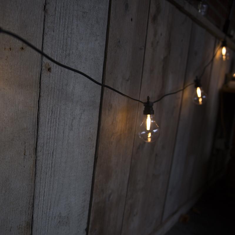 Feestverlichting buiten lichtsnoer Globe B 20 warm wit LED 9,5 meter
