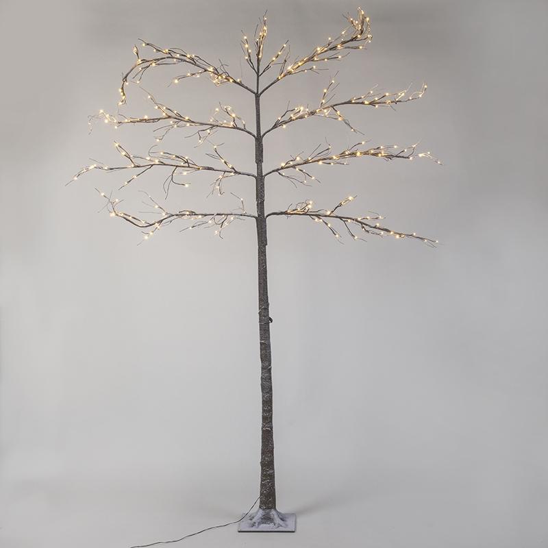 Kerstverlichting Leiboom Snow LED warm wit 2,4 meter