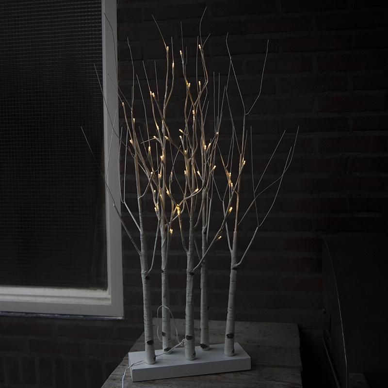 Kerstverlichting Berkenbos LED warm wit 0,9 meter