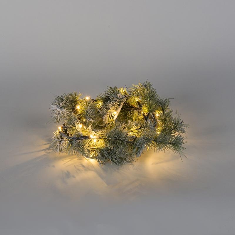 Światełka bożonarodzeniowe sosnowe gałęzie Snow LED barwa ciepło biała 1,5 m