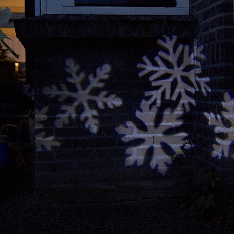 Kerstverlichting Laser Projector Led Wit Sneeuwvlokken