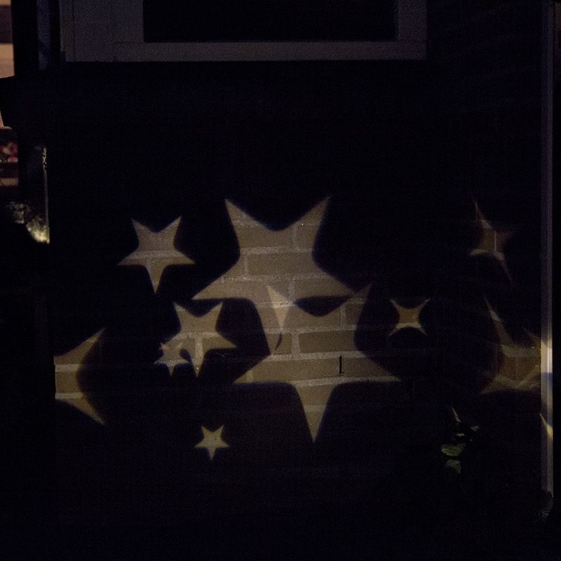 Kerstverlichting Laser projector LED wit sterren