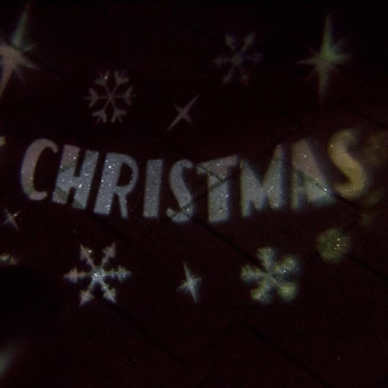 Kerstverlichting Merry X-mas Projector Led Koel Wit
