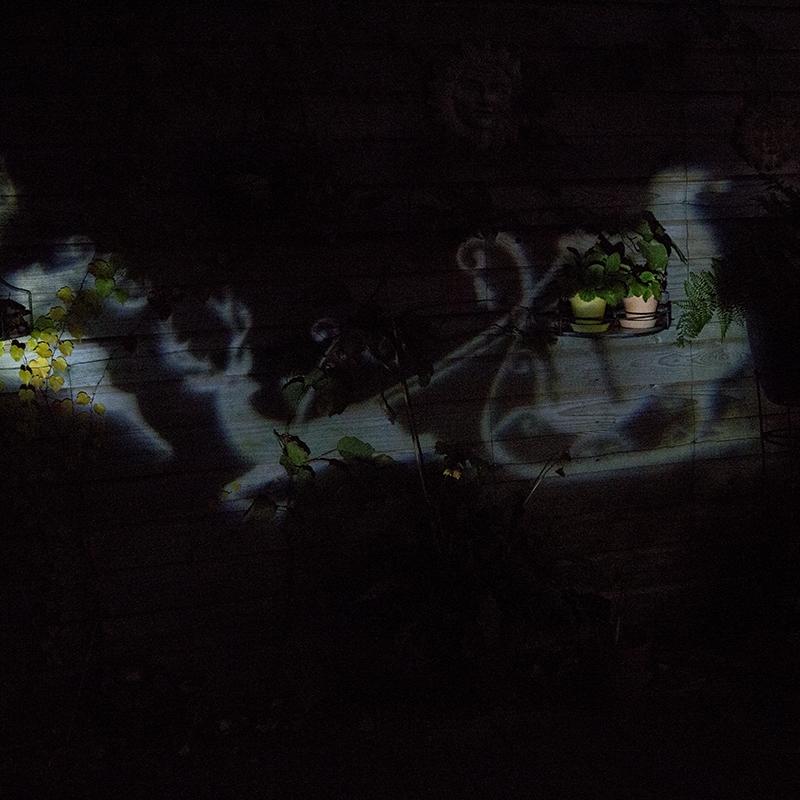 Kerstverlichting Laser Projector Led Wit Kerstman Met Slee