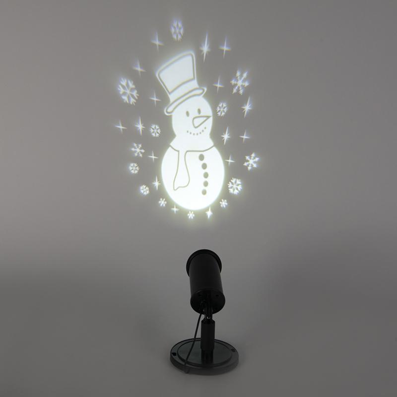 Projektor bożonarodzeniowy LED Sneeuwpop biały