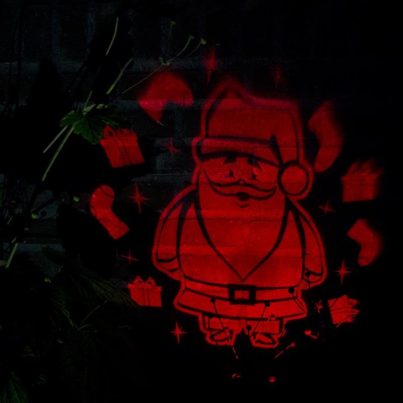 Kerstverlichting Laser projector rood Kerstman