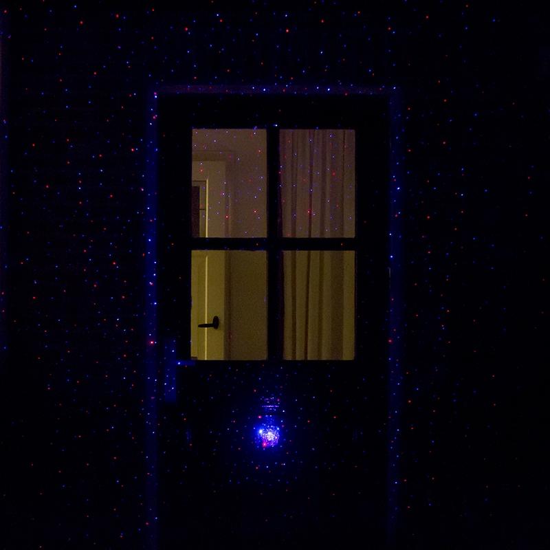 Kerstverlichting Laser projector LED rood en blauw met 9 standen