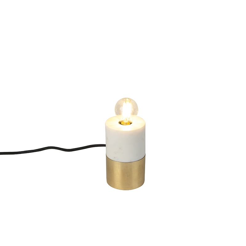 Chique tafellamp messing met marmer - Cava
